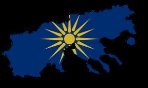 Macedonia Flag-Map