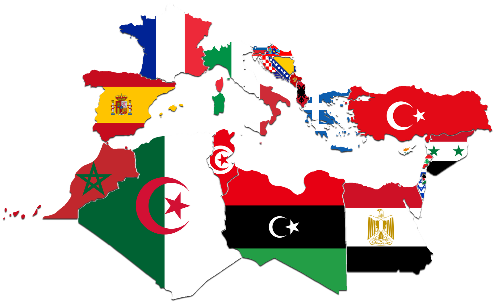 Mediterranean Countries FlagMap by CaptainVoda on DeviantArt