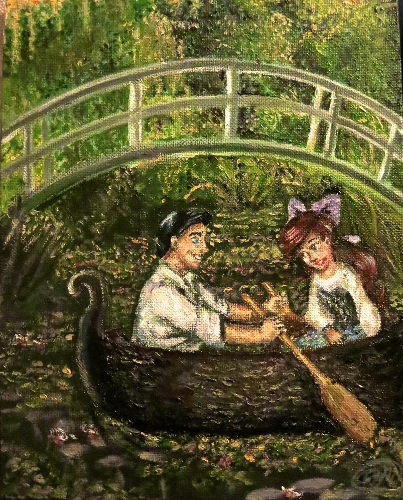 A Boat ride in Monet\'s Garden by BreathlessDragon on DeviantArt