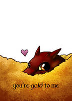 Smaug Valentine by FeatherFactory