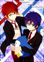 Kanba and Shouma: Card Sleeve by CardOtaku