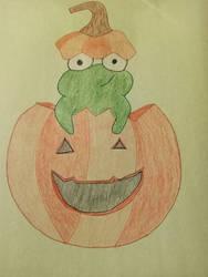 Froggy Halloween Drawing