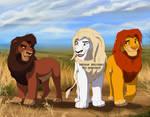 Sihle, Kovu and Simba