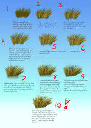 How I draw grass