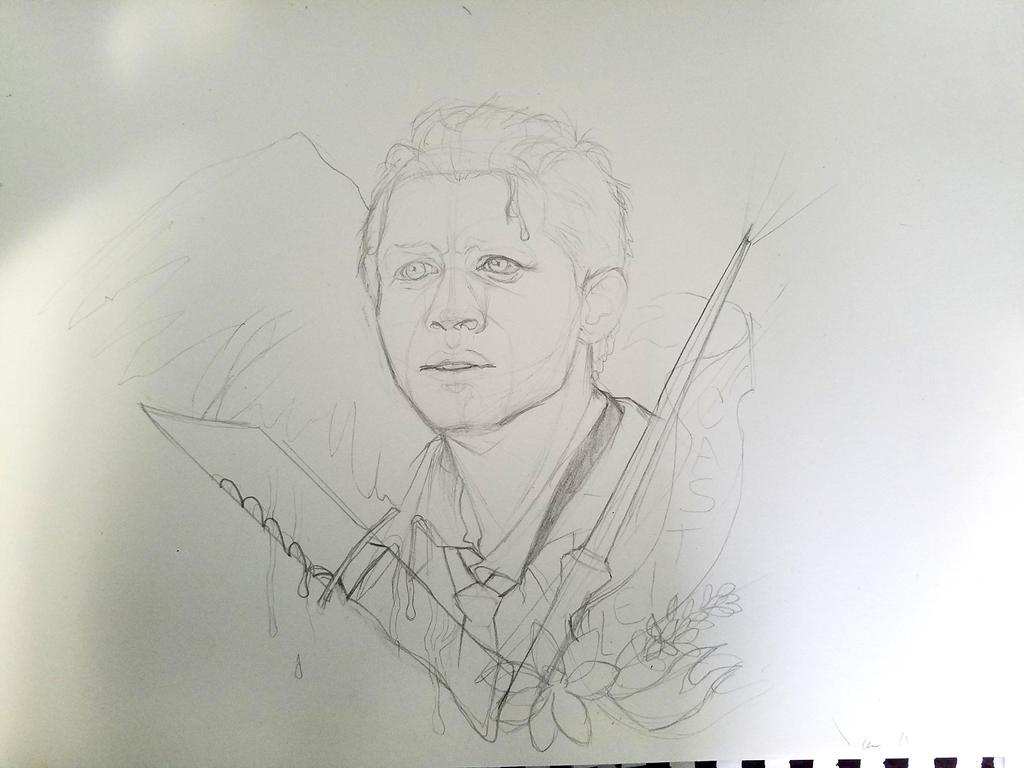 Cas Sketch by Kara-Kiwi