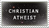 Christian Athiest Stamp by MartyMurray