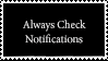 Always Check Notifications Stamp by Fukushu-Makoto12