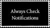Always Check Notifications Stamp by Fukushu-Makoto12