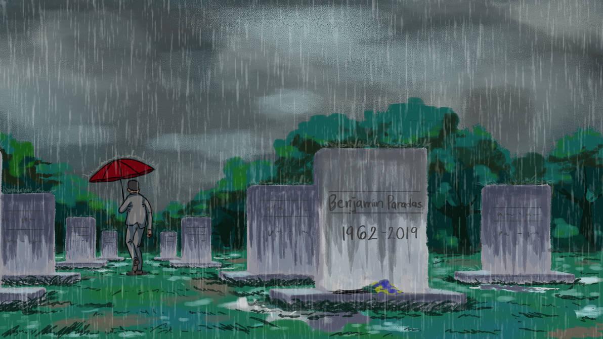The Rain in the Cemetery by Fukushu-Makoto12