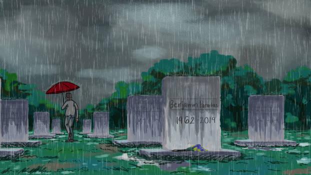 The Rain in the Cemetery