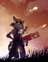 Rocket And Groot by CLE2
