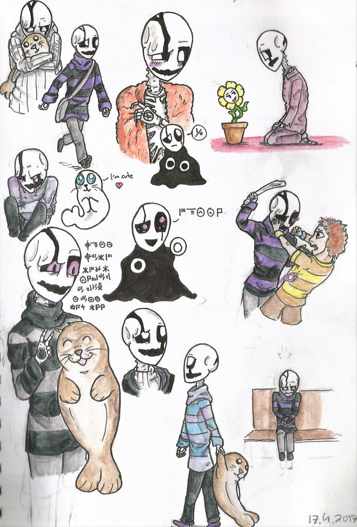 Adventures of tiny Gaster by GamerSelkie