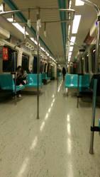 plenty of seats on MRT Taipej
