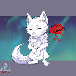 Free to use - Standing Wolf Pup by SKproductionsArt