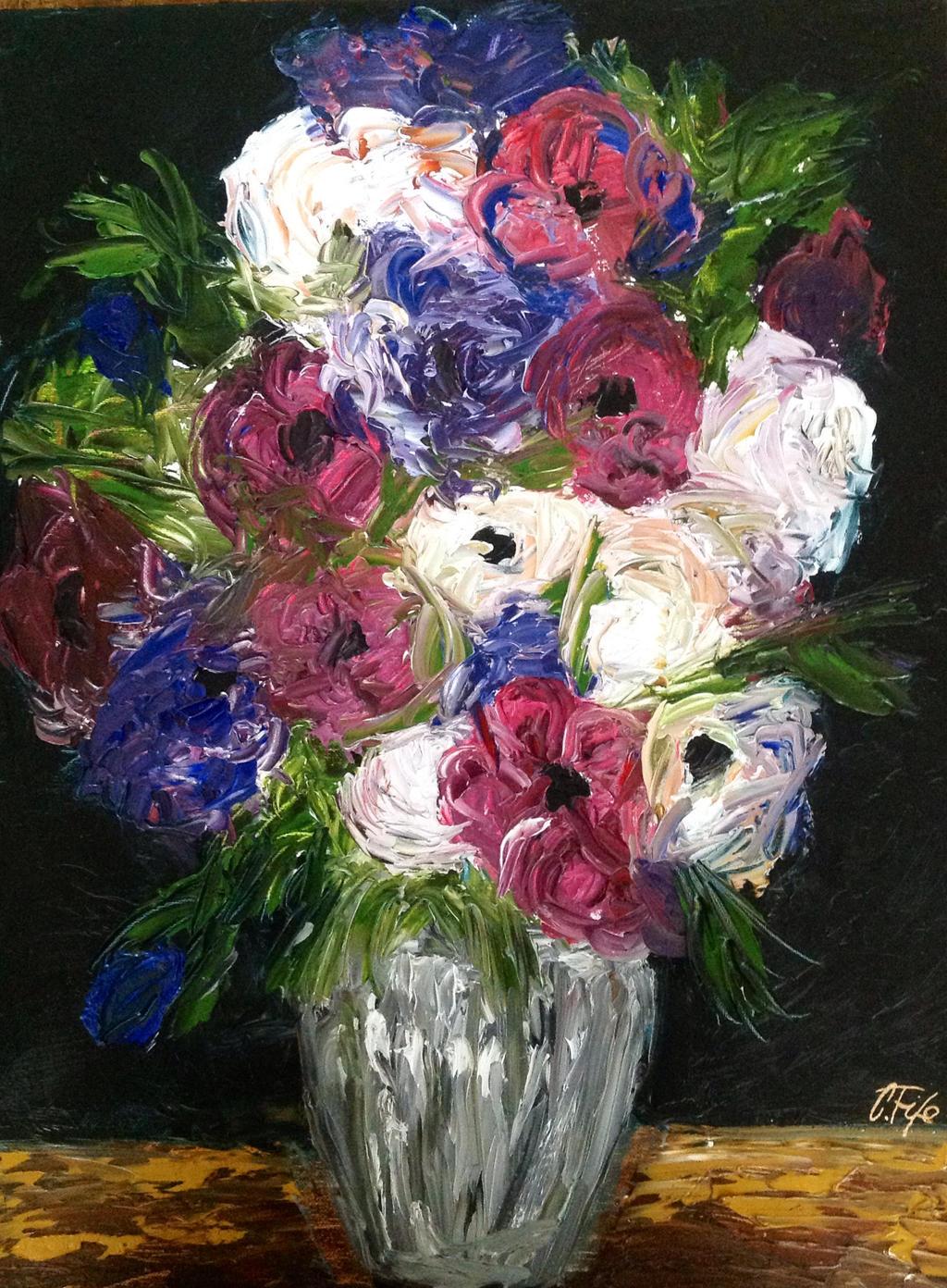 Dark Flowers Oil Painting Ctfife By Cfife On Deviantart