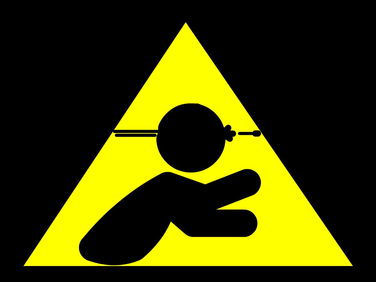 Sniper Ahead Sign