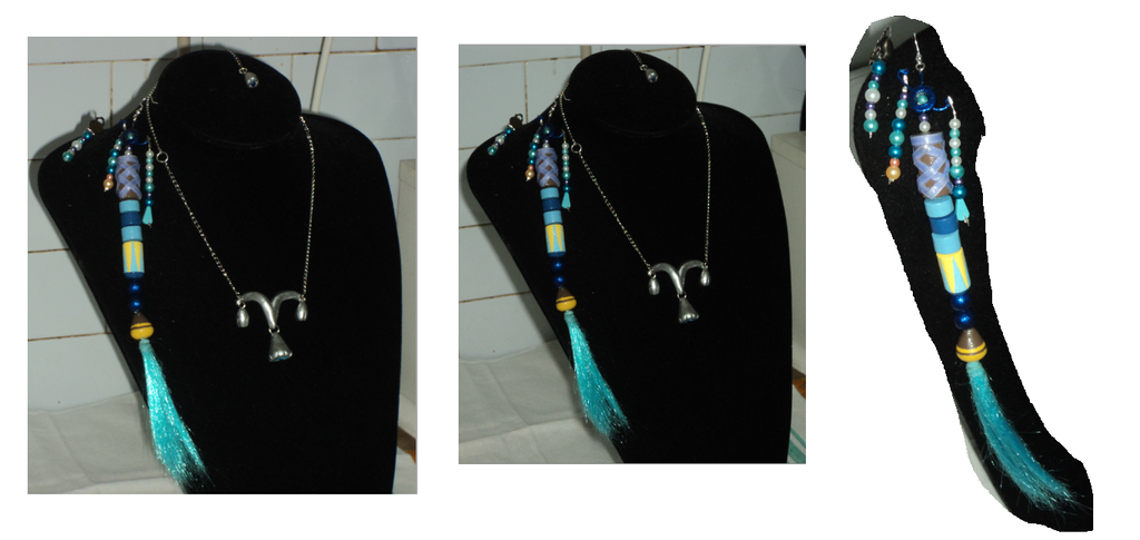 Orecchini e collana Yuna FFX Collage 3 by Claire-Leonhart