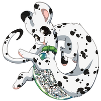 Terradragon #101 - Dalmatian by Beaniamasterlist