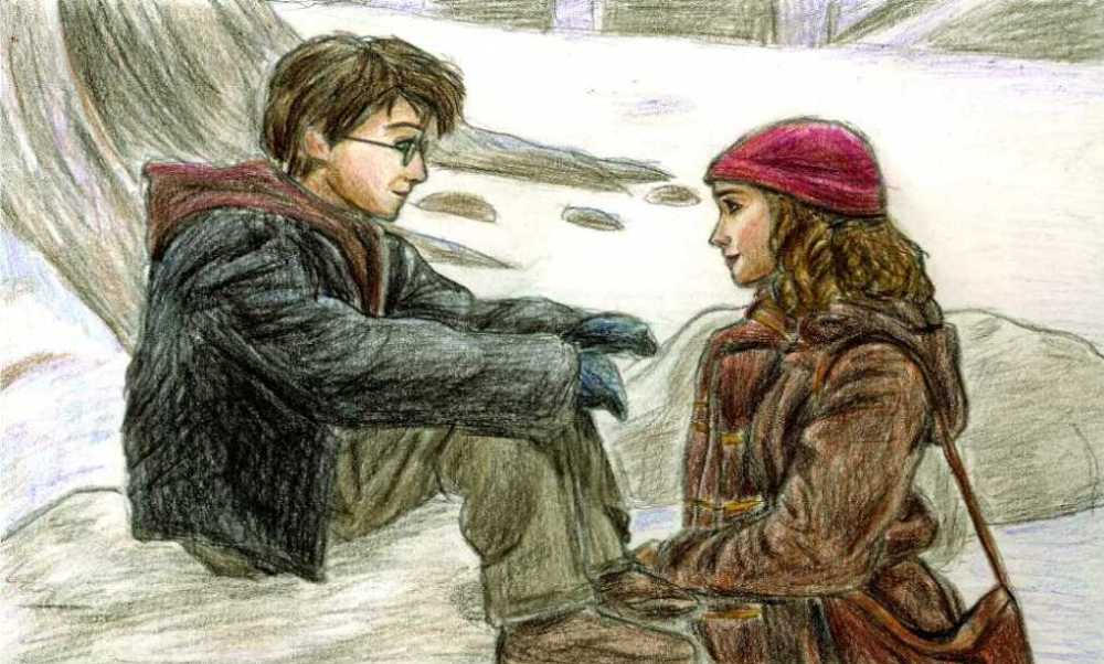 Harry and Hermione in PoA by DKCissner on DeviantArt Daniel Radcliffe Net