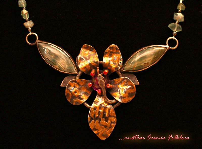 Serpent in the Flower Necklace by CosmicFolklore