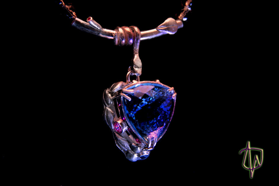 Water garden Pendant view 2 by CosmicFolklore