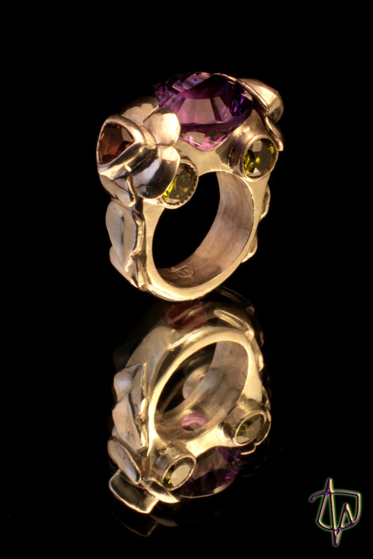 Amethyst Promise Ring Male