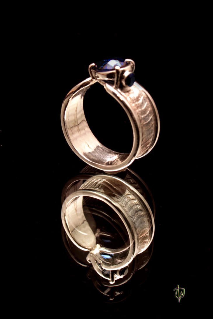 Tidal Sapphire Ring by CosmicFolklore