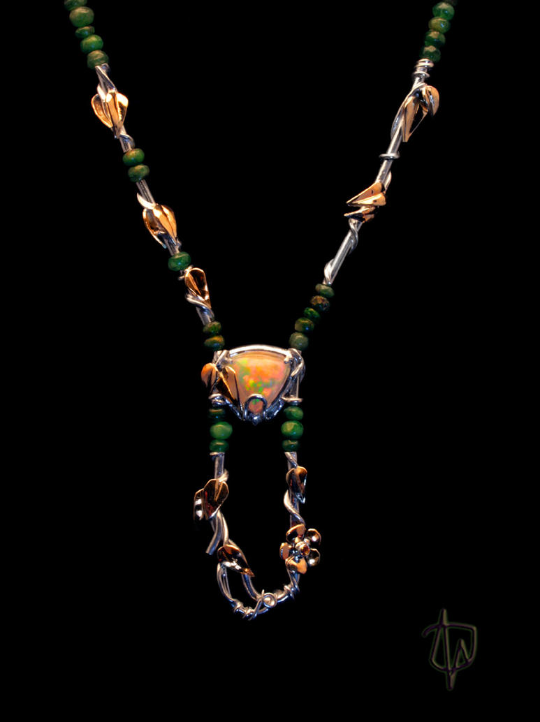 Hanging Garden Necklace by CosmicFolklore