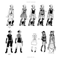 DOLLHOUSE Character Designs 1 by llovet