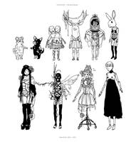 DOLLHOUSE Character Designs 2 by llovet