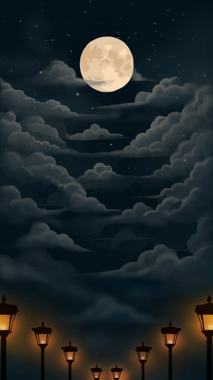 Moonlight Wallpaper Iphone 7 By Hayakibear On Deviantart