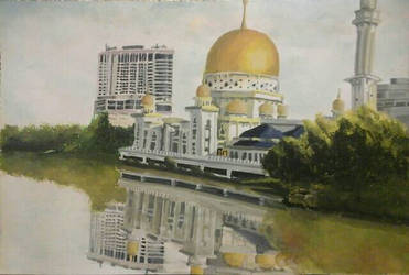 Mosque in Klang town by Doqida