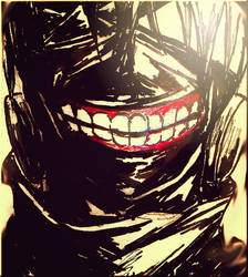 Kaneki's Mask by Doqida