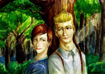 Siti and Charles (art trade) by Doqida