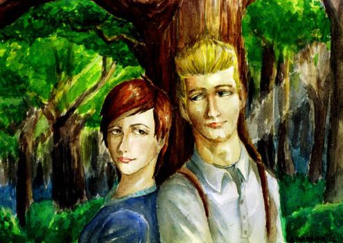 Siti and Charles (art trade)