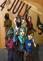 Invader World 2nd Anniversary by Doqida