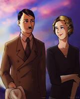 Hitler x Eva by Doqida