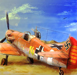 'Yellow 14' Bf-109 by Doqida