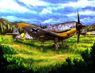 Bf 109 Black 13 by Doqida