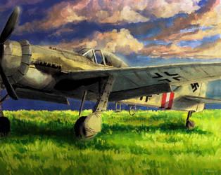 Focke Wulf Fw-190 by Doqida