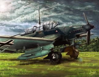 Junkers Ju-87G by Doqida