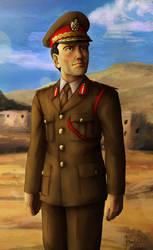 Muammar Gaddafi by Doqida