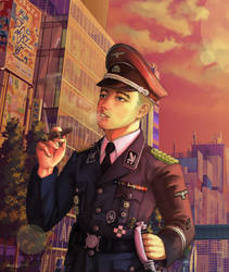 Guten Tag, Officer [Commission]