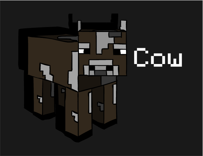 how to build a cow in minecraft