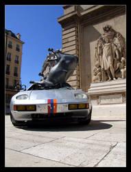 Porsche vs Cow by muratalibaba