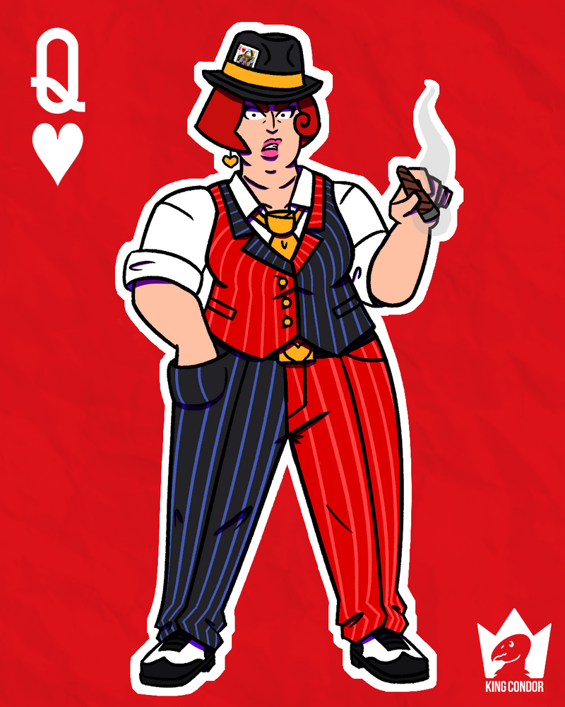 Character Design Challenge Deviantart : Character design challenge queen of hearts by kingcondor