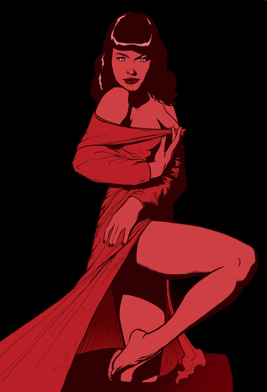Bettie Page Color By Agustin M On Deviantart Bettie Page Color
