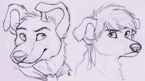 Dodger and Nate Sketch