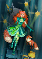 Karri and her fox by rivinca