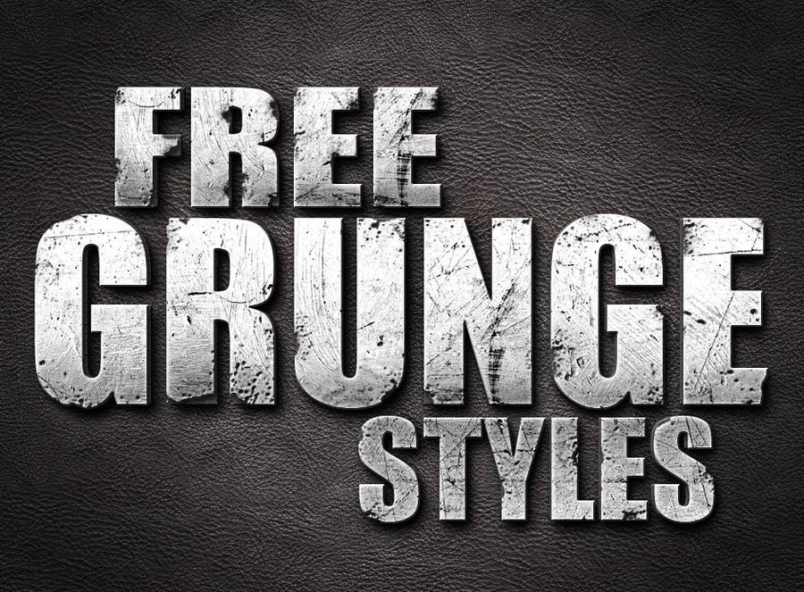 Free Photoshop Grunge Styles